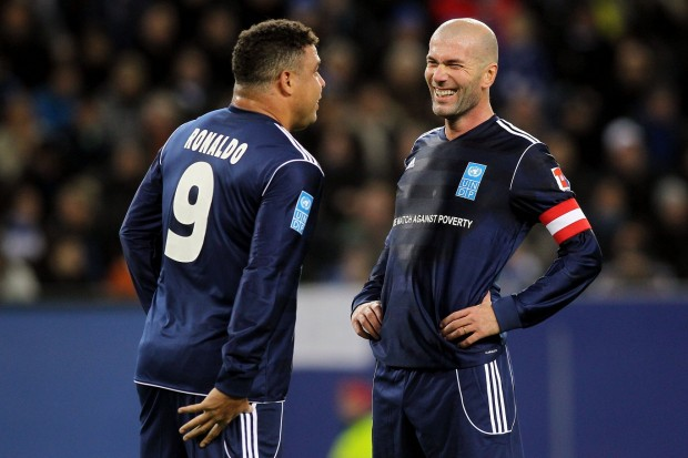 Zinedine Zidane with Ronaldo
