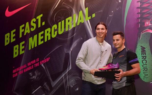 Danijel Majdancevic with Zlatan Ibrahimovic