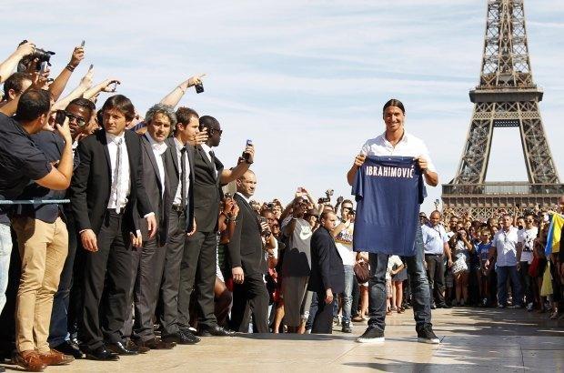 Zlatan Ibrahimovic at Eiffel Tower in Paris