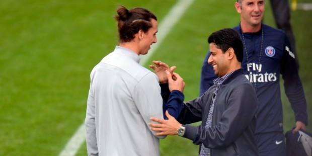 Nasser Al-Khelaïfi and Ibrahimovic