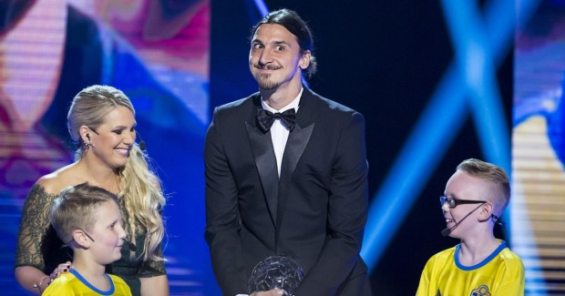 Zlatan Ibrahimovic has hilarious reunion with child superfans as he wins Swedish Footballer of the Year
