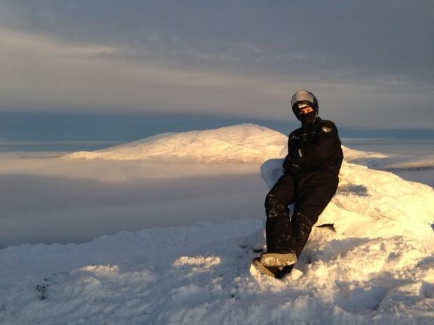Zlatan Ibrahimovic in Swedish Mountains