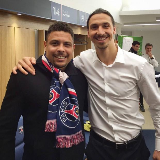 Zlatan Ibrahimovic with Legendary Player Ronaldo