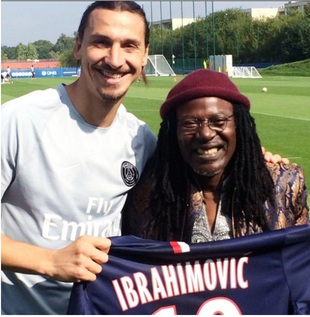 Zlatan with his idol Alpha Blondy