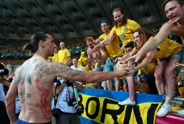 Ibrahimovic with his fans