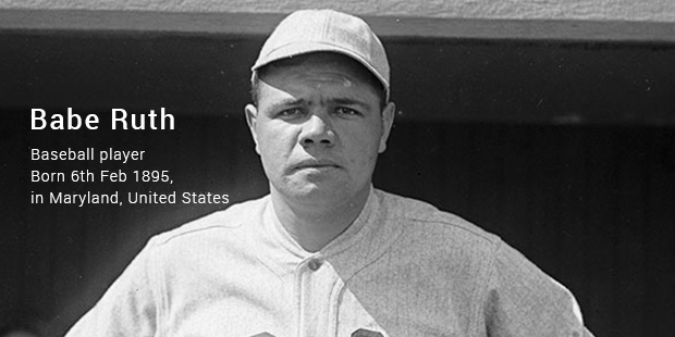 a biography of babe ruth a baseball player