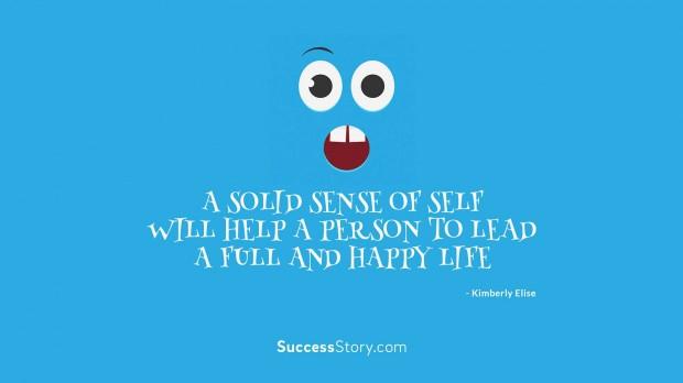 A solid sense o