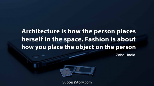 Architecture is how