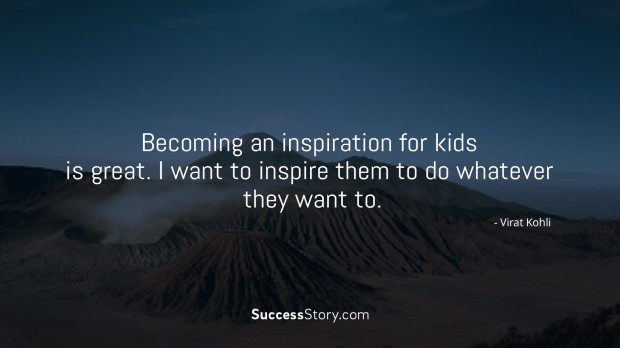 Becoming an inspiration