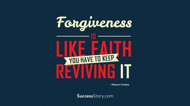 Forgiveness is like