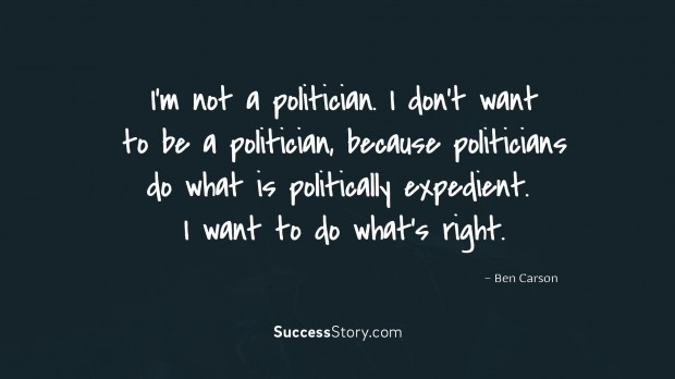 I m not a politician