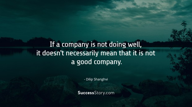 If a company is not doing