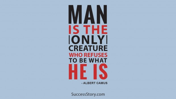 Man is the only