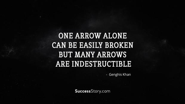 One arrow alo