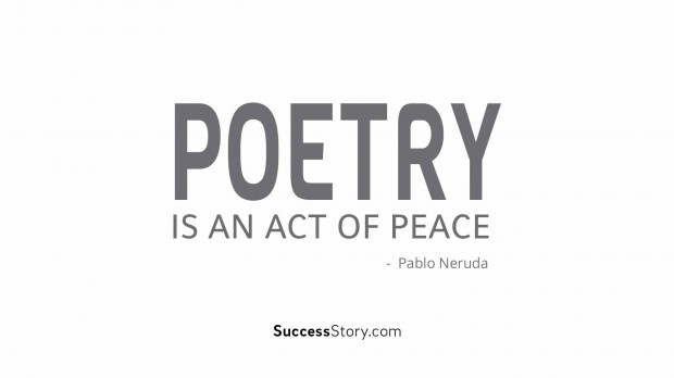Poetry is an act of peace