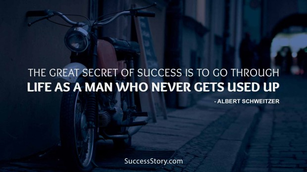 The great secret of success