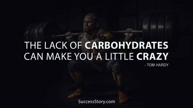 The lack of carbohydrates