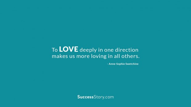 To love deeply in one direction  1