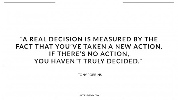 Tony Robbins Decision making quotes