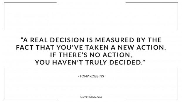 Tony Robbins Decision making quotes