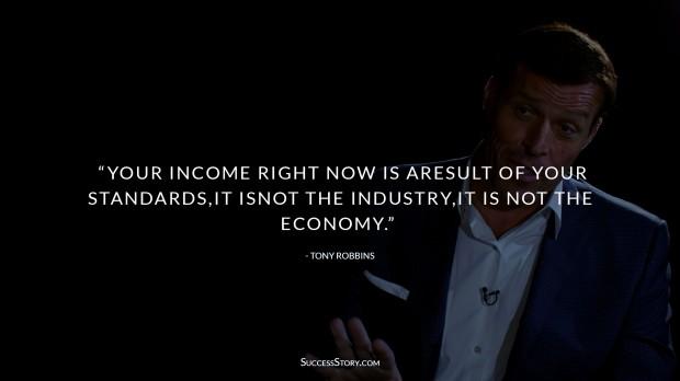 Tony Robbins Income Quotes
