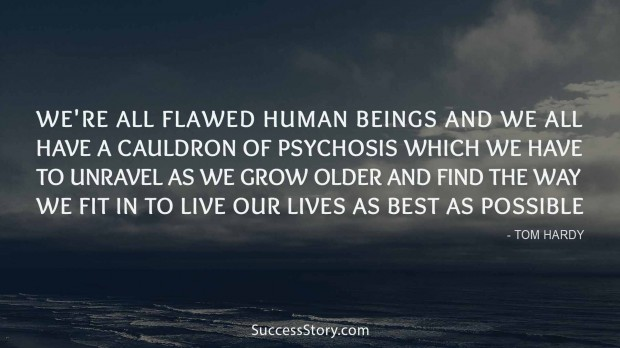 We re all flawed human