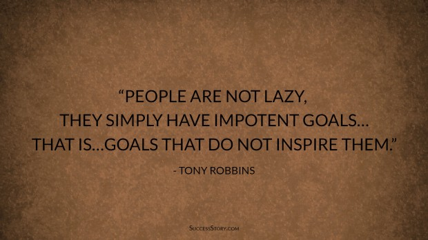 tony robbins goal setting quote