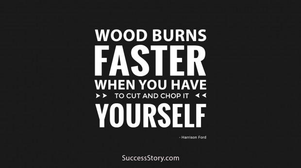 wood burns
