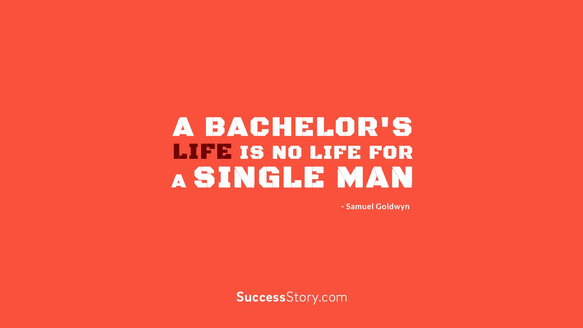 A bachelor s life