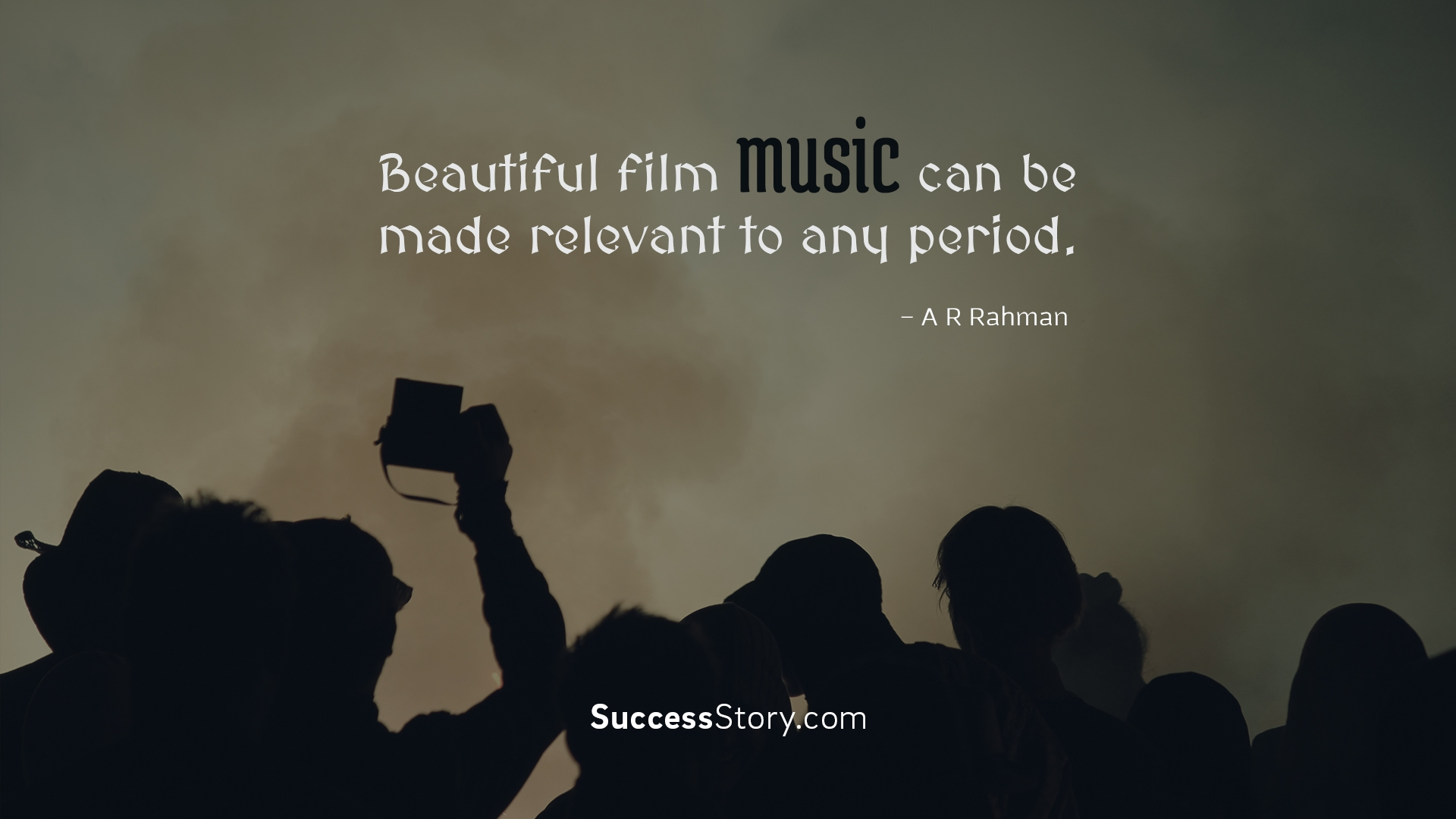 Beautiful film music can
