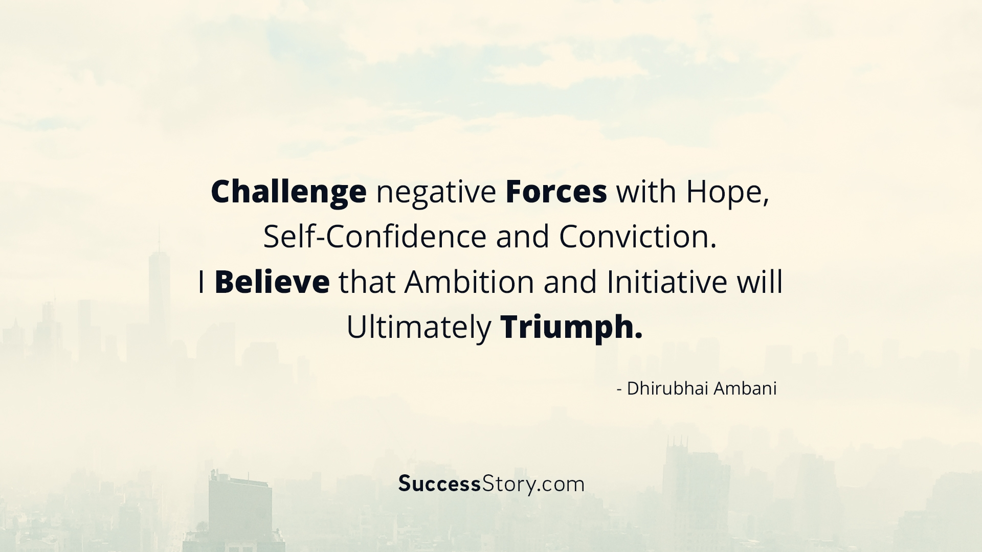 Challenge negative Forces with