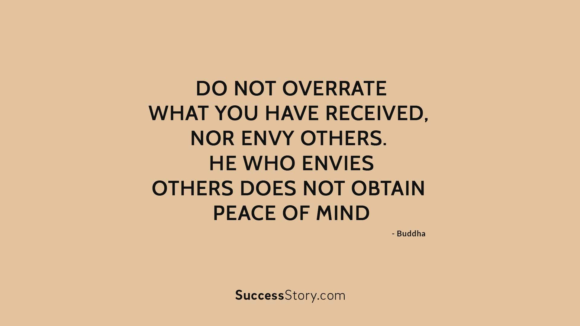 Do not overrate