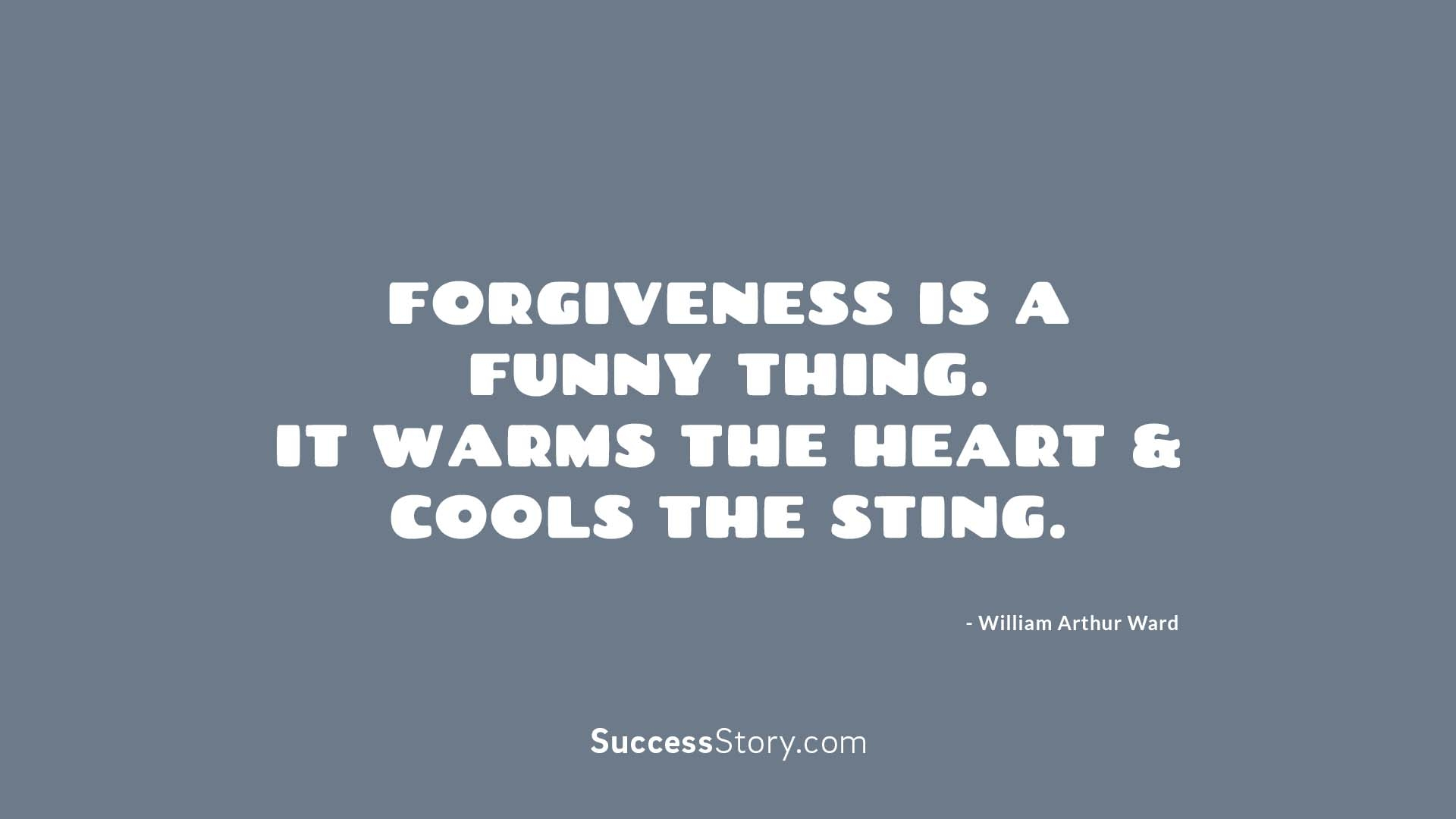 Forgiveness is a fu