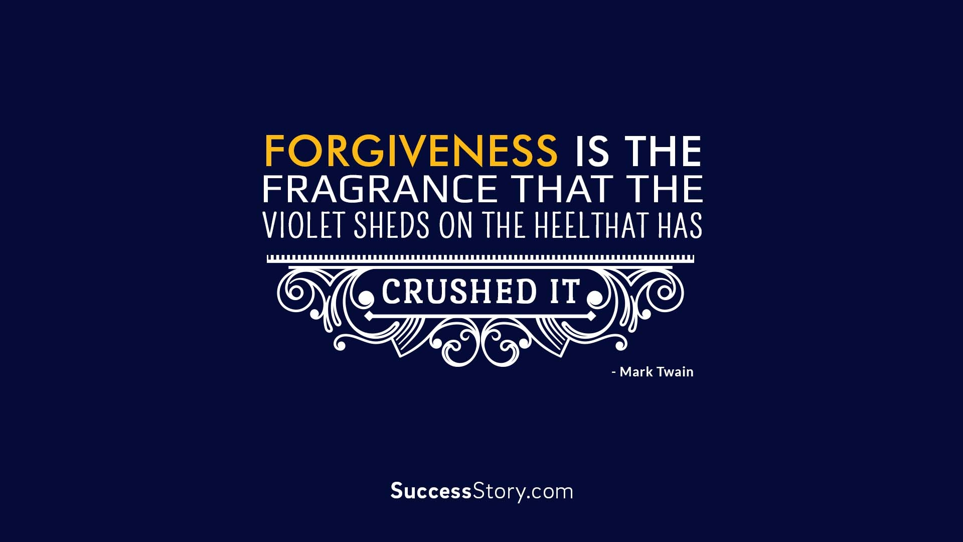 Forgiveness is the fra