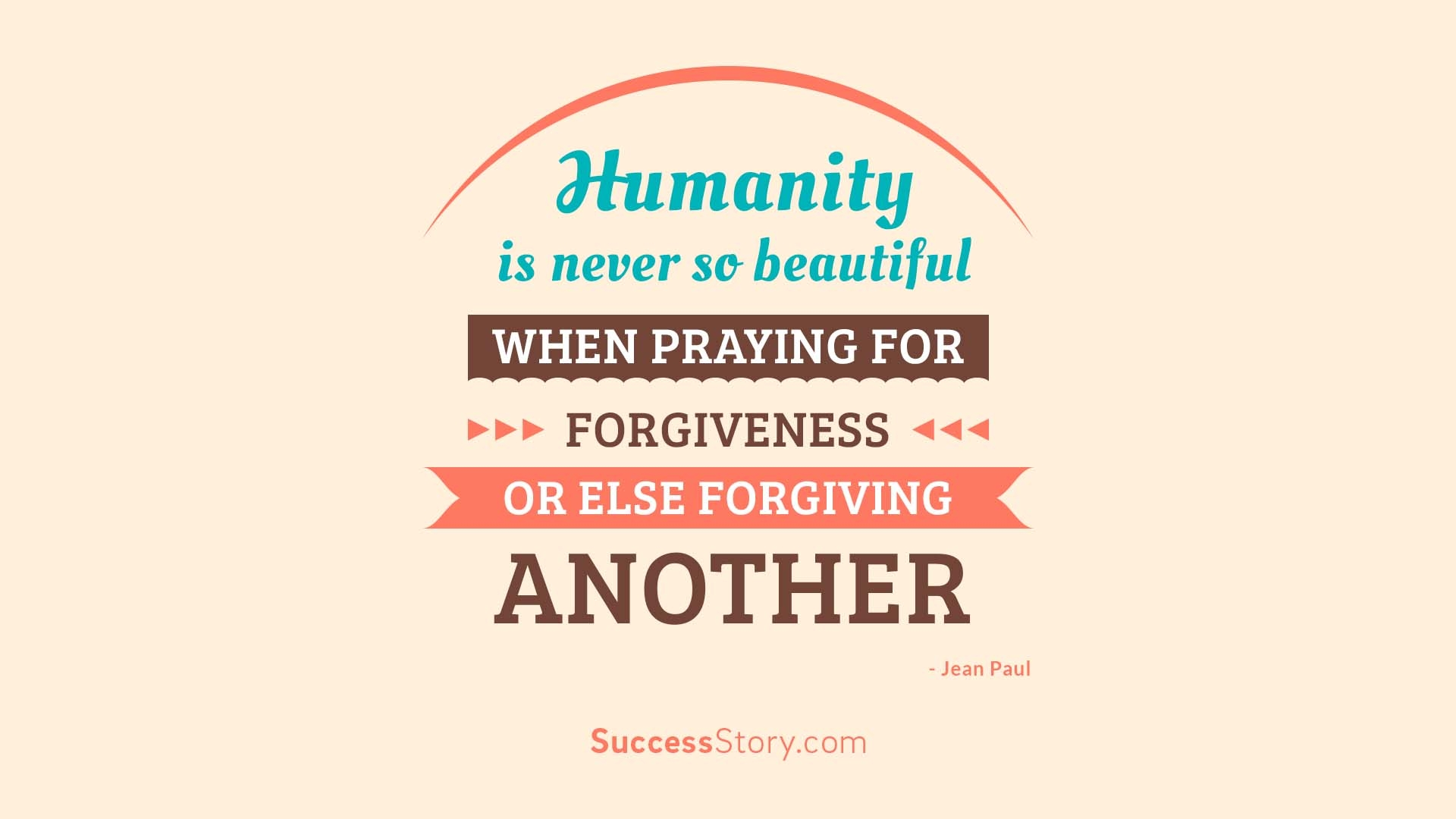 Humanity is never