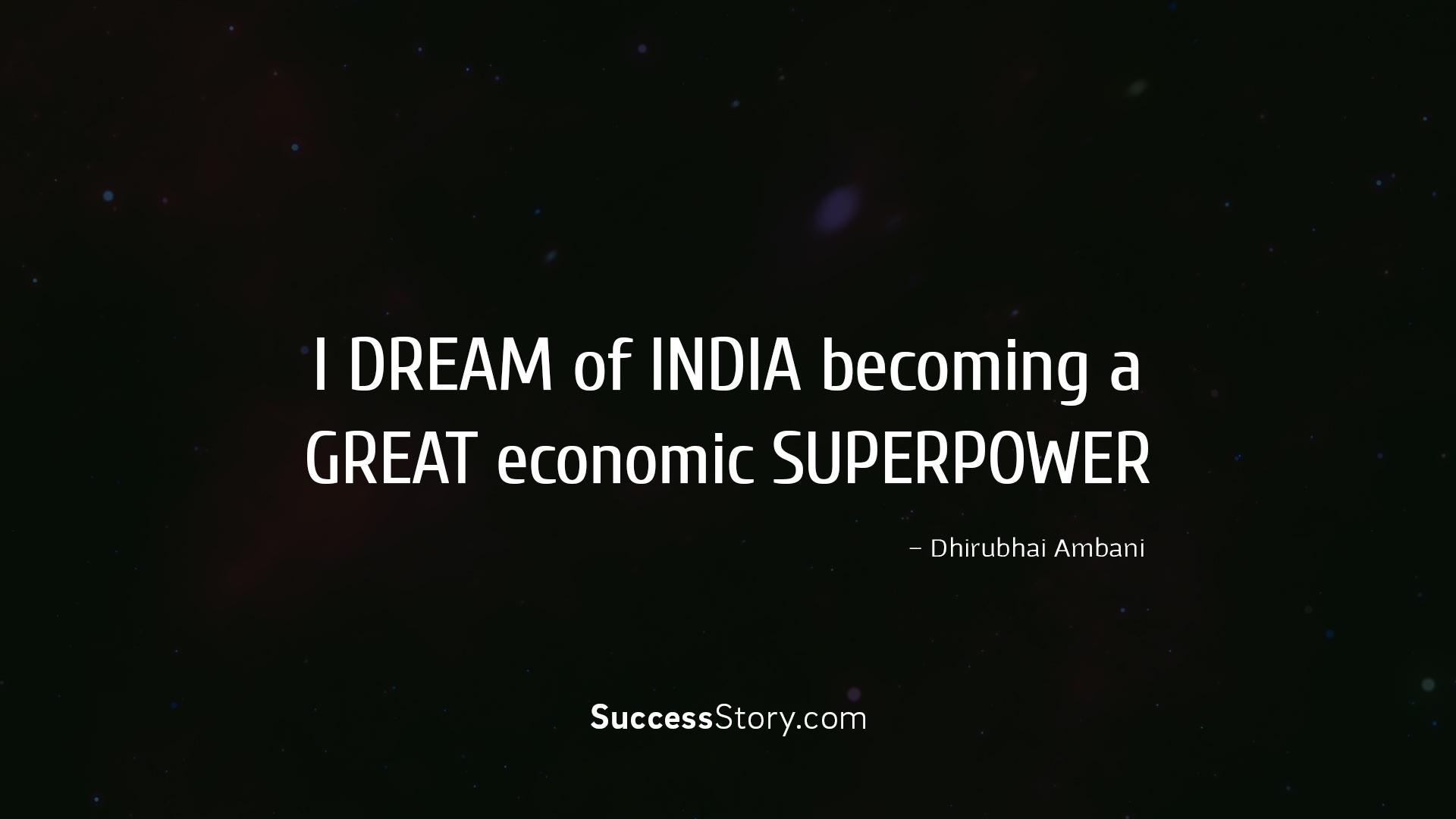 I dream of India bec