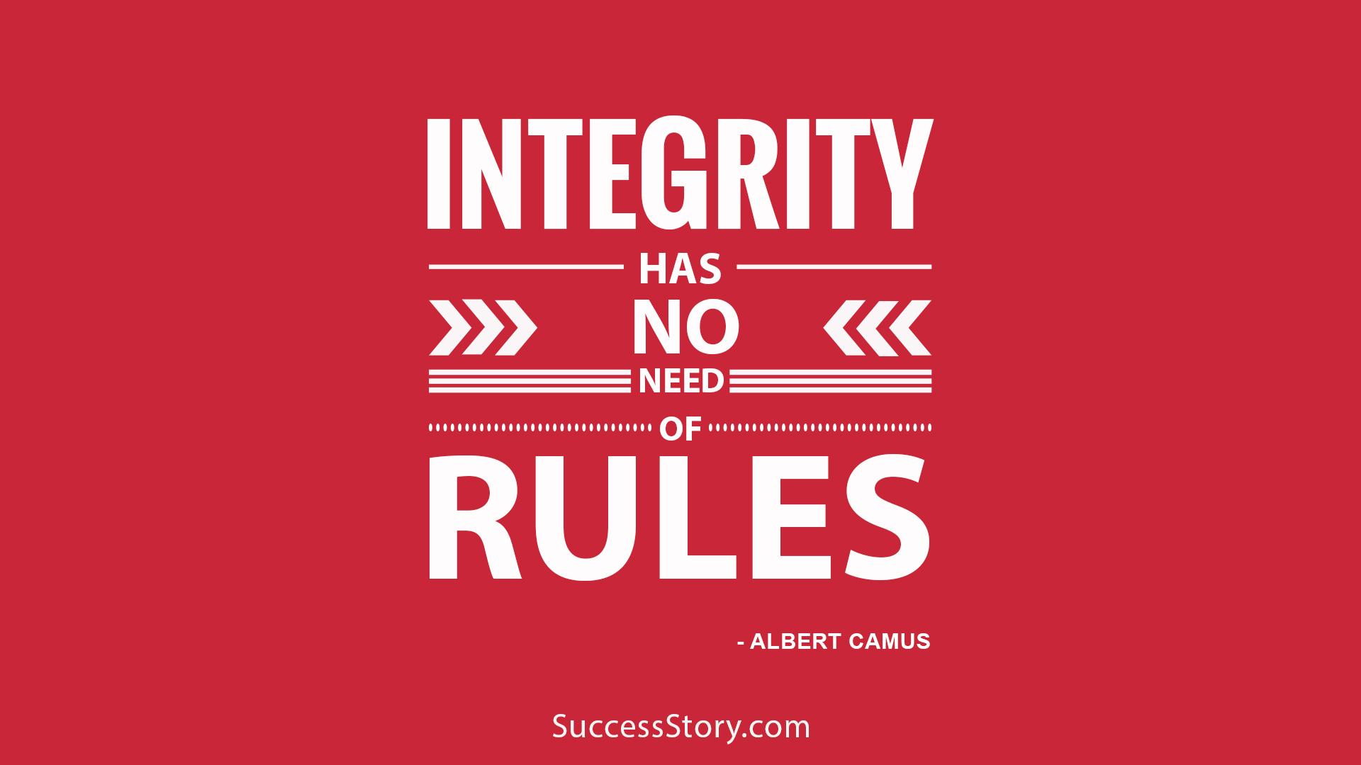 Integrity has no