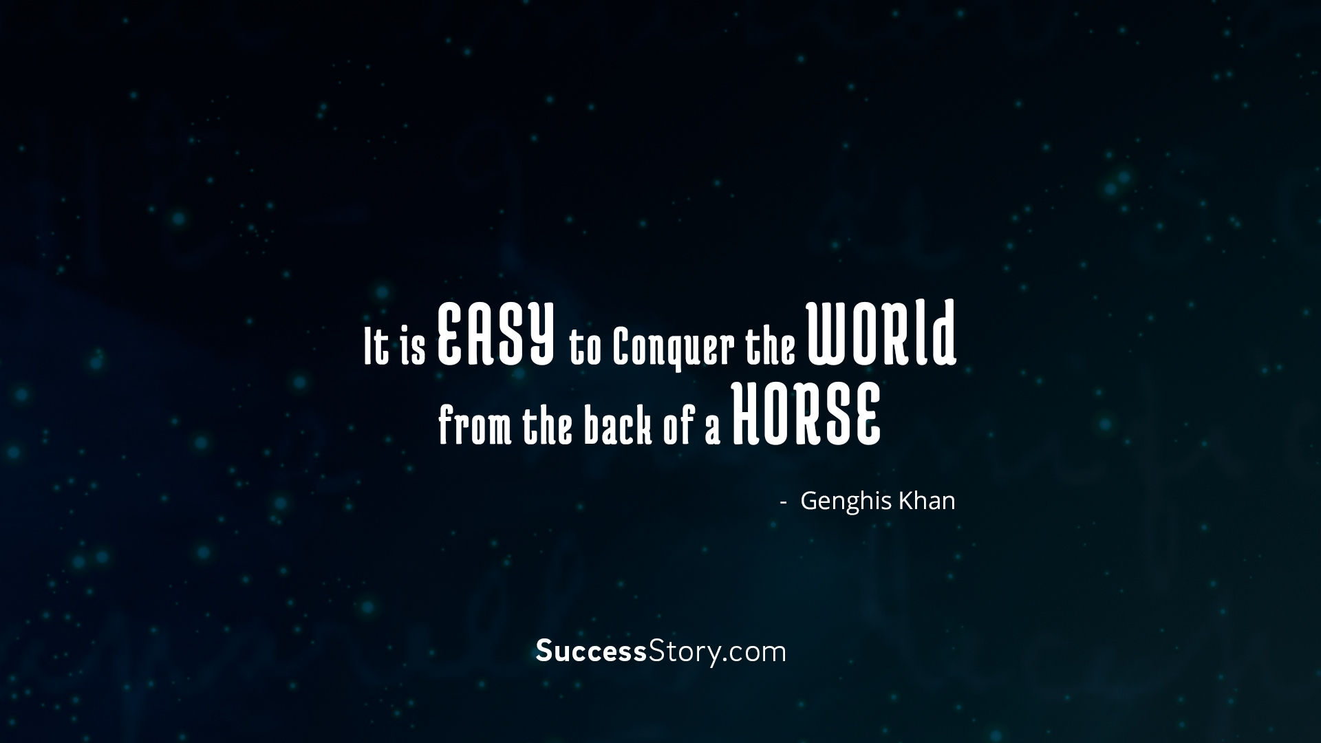 It is Easy to Conquer