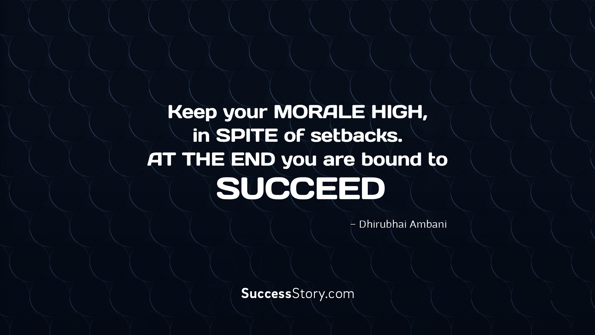 Keep your morale