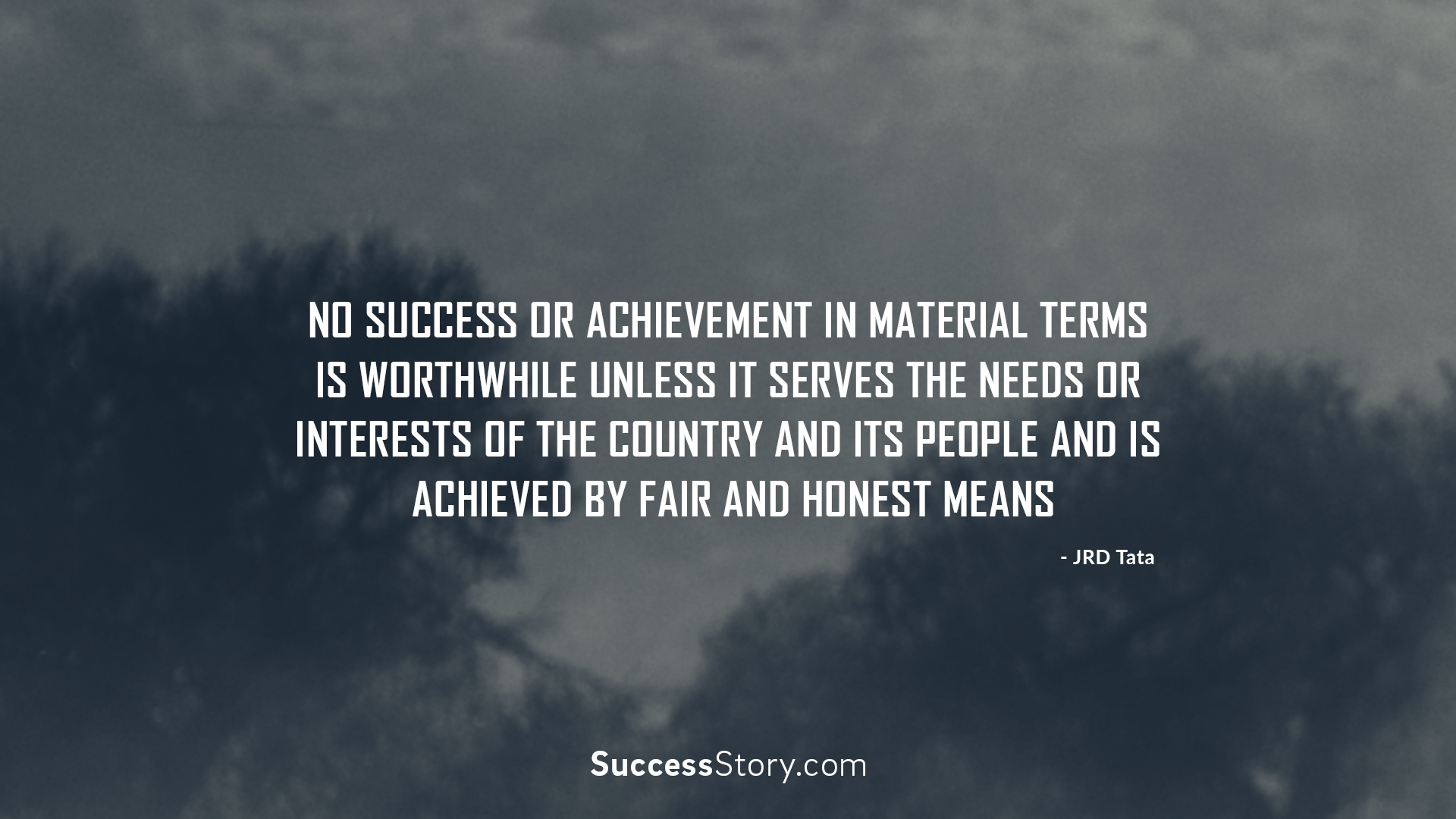 No success or achievement in material