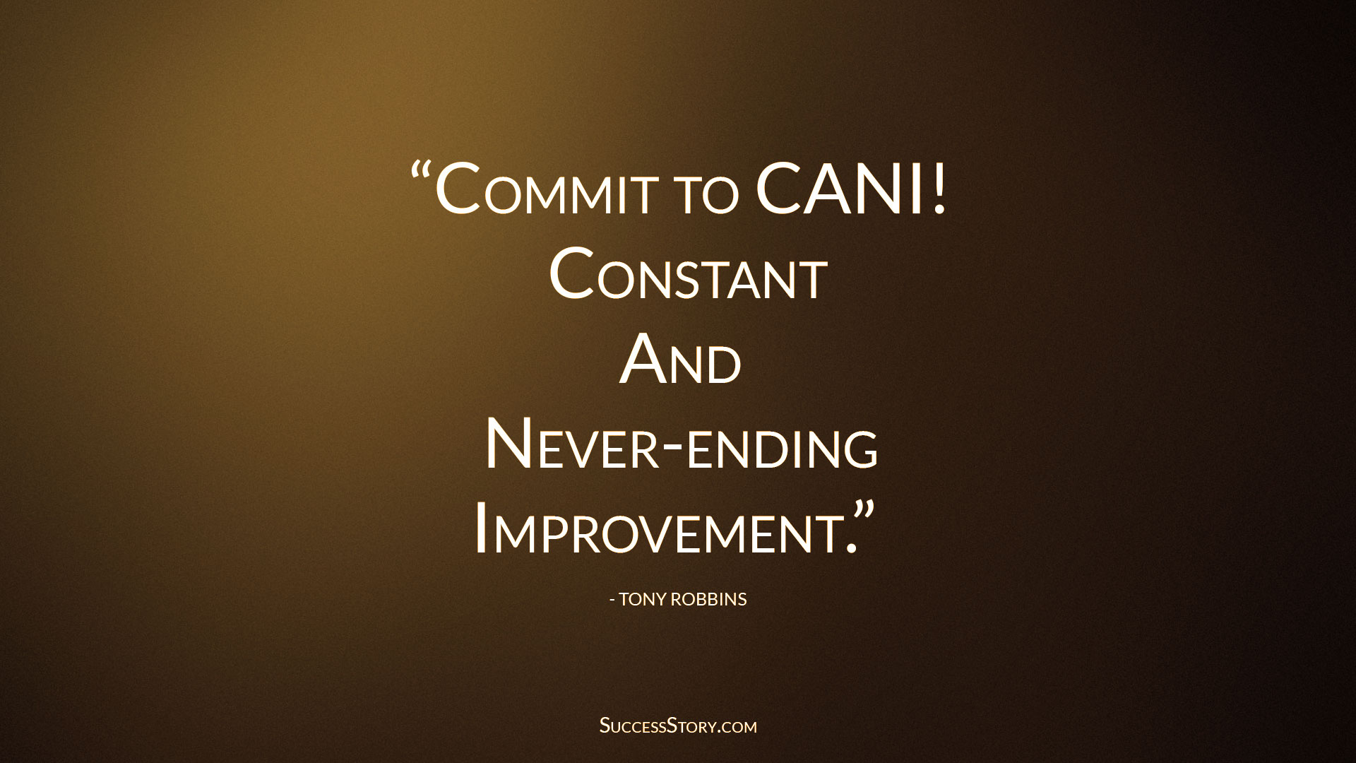 Tonny Roobins quotes about improvement