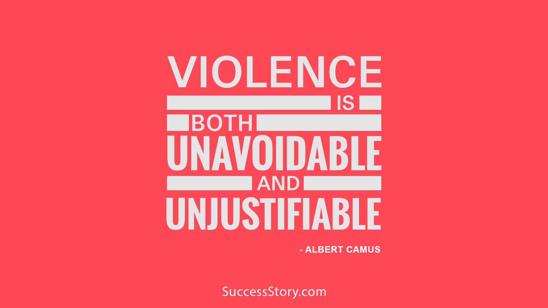 Violence is both
