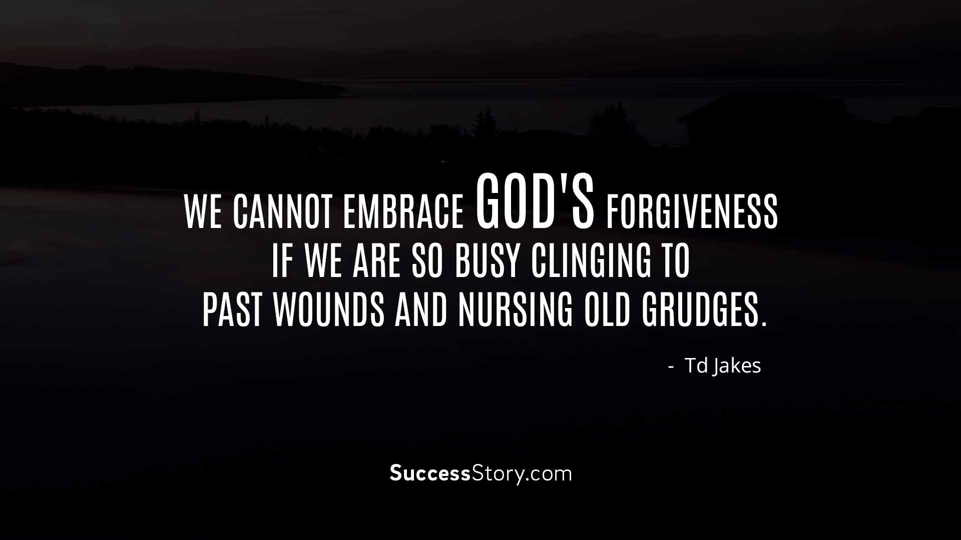 We cannot embrace