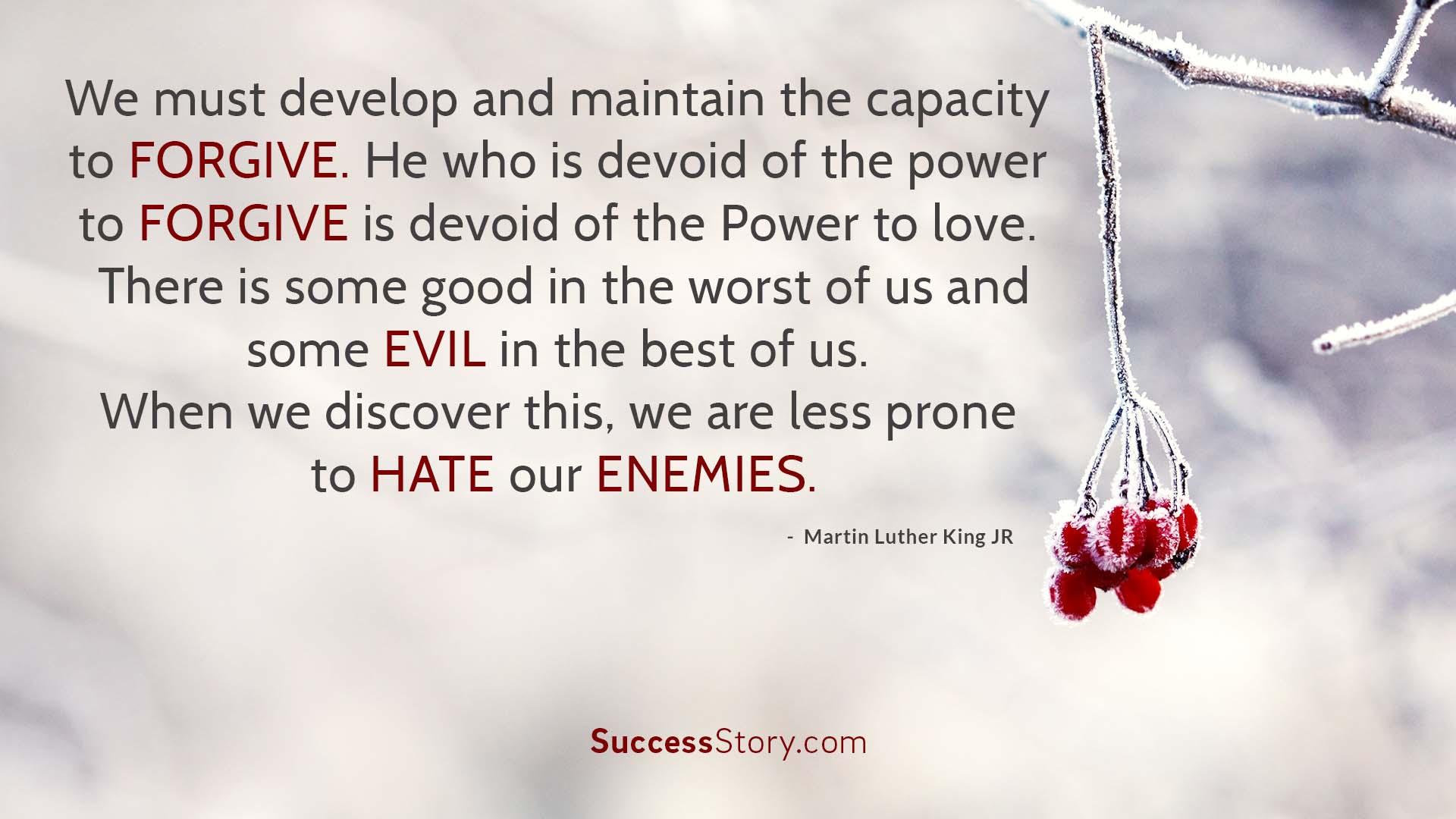 We must develop  2   1