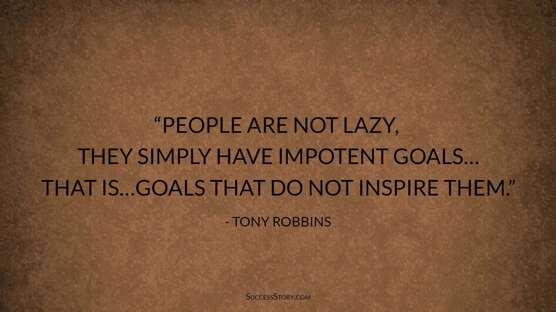 tony robbins goal setting quote