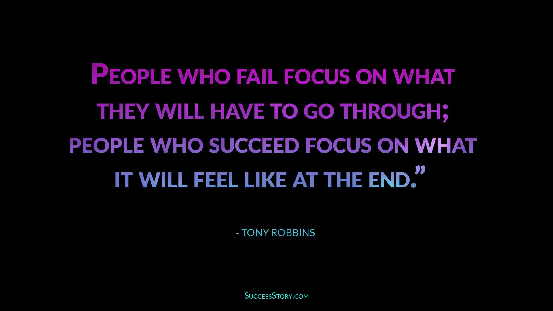 tony robbins success vs failure