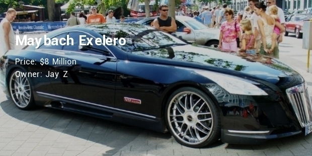 Most Expensive Celebrity Vehicles