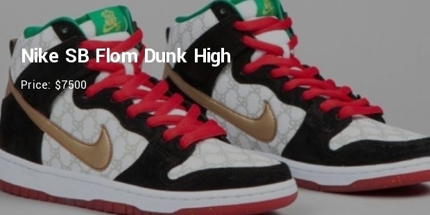 huge selection of 06a19 31f35 ... sale Nike Dunk High Pro SB ... 8 most expensive priced nike shoes list  expensive shoes successstory  ...
